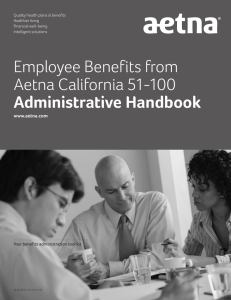 Employee Benefits from Aetna California 51