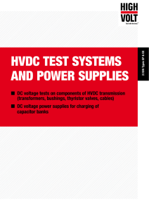 hvdc test systems and power supplies