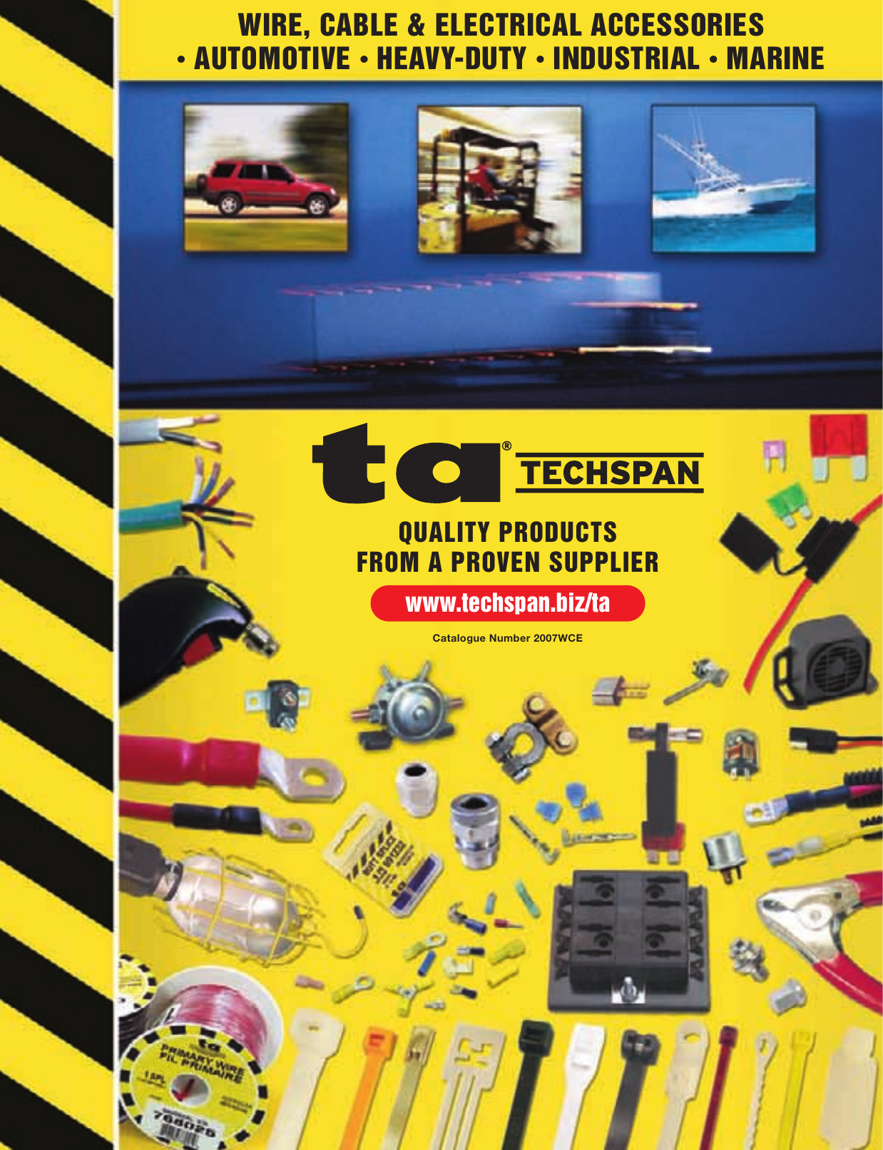 Techspan Auto Catalogue 2007 Pollak Lightduty Toggle Switch Onoff 12 Volt 10 Amp 6quot Wire