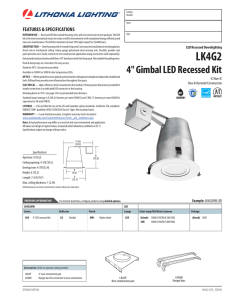 "4"" Gimbal LED Recessed Kit"