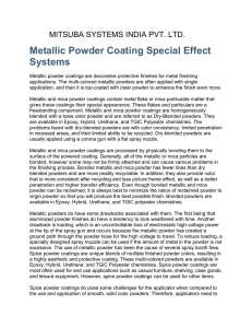 Metallic Powder Coating Special Effect Systems