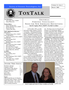 Issue 1 - Society of Forensic Toxicologists