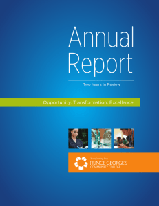 Annual Report 2011 - Prince George`s Community College