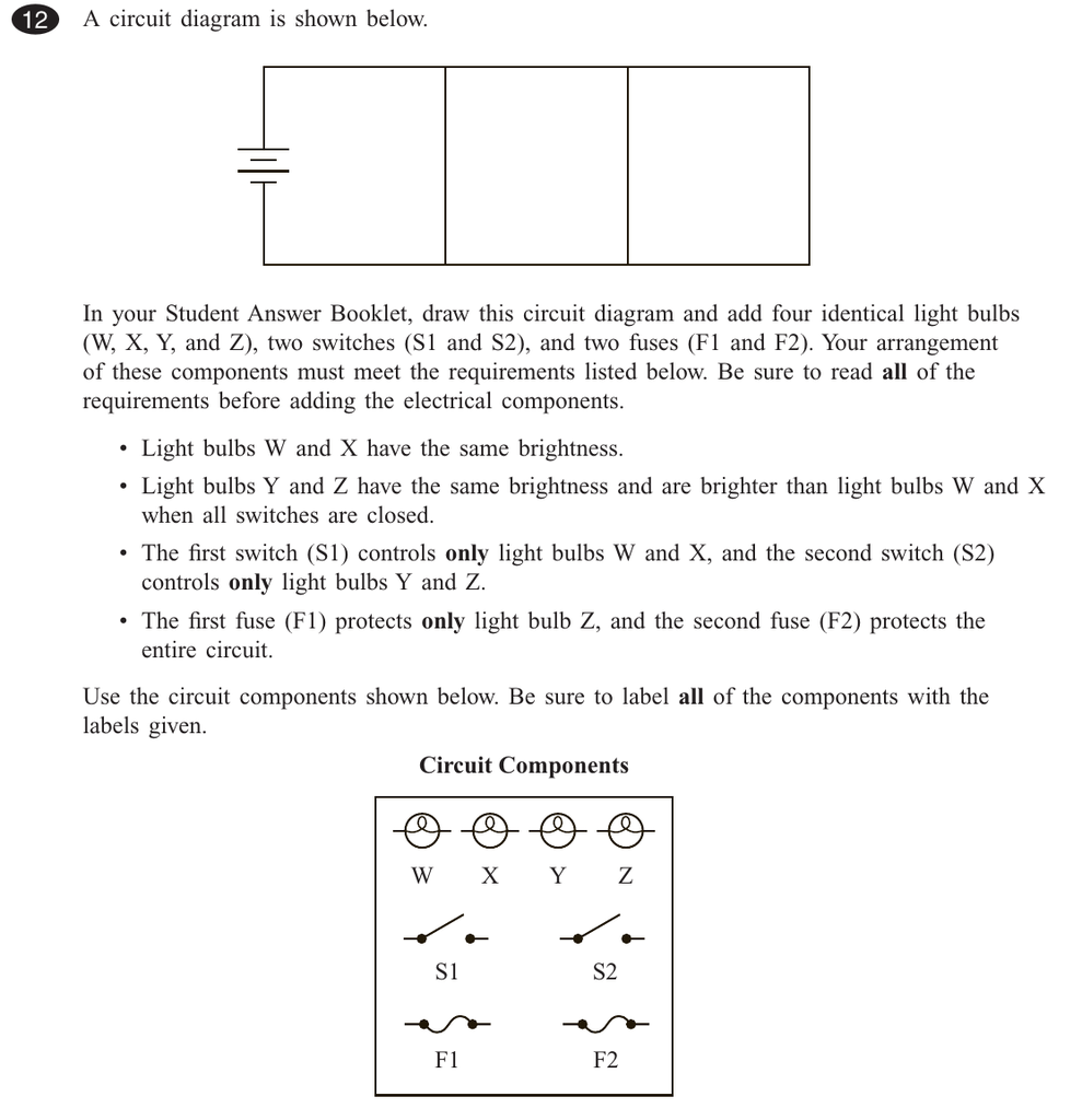 A Circuit Diagram Is Shown Below In Your Student Answer Booklet Worksheet Answers