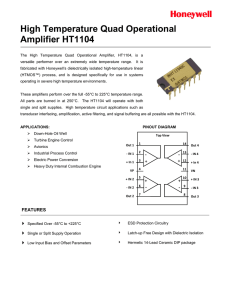 High Temperature Quad Operational Amplifier HT1104