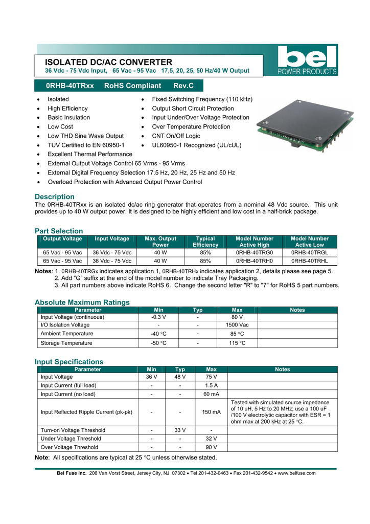 isolated dc/ac converter
