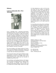 Obituary Louis A. Gottschalk, M.D., Ph.D. 1916-2008