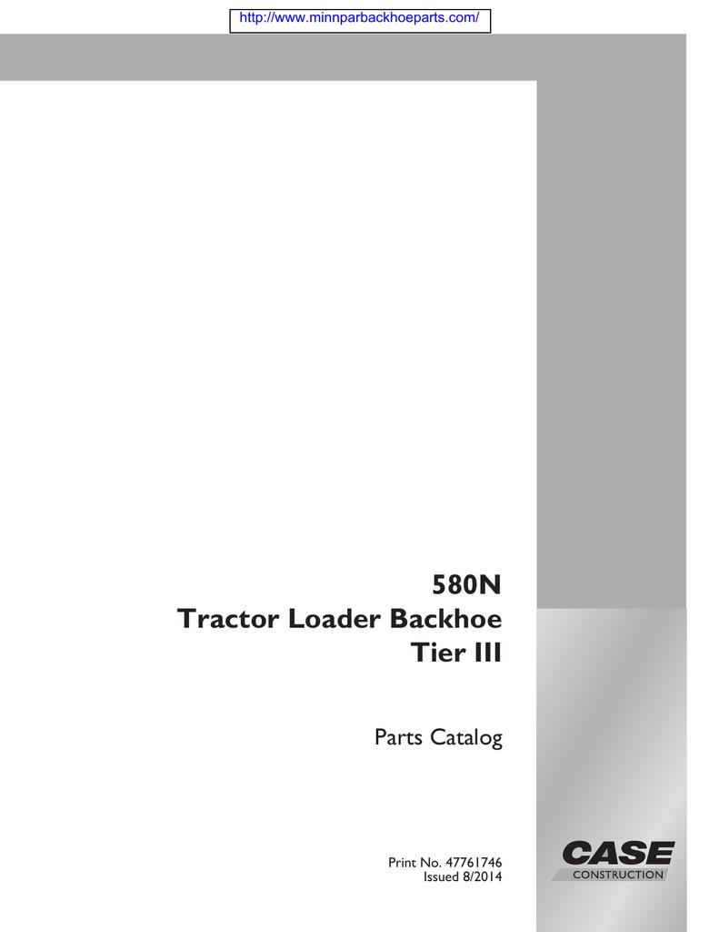 CASE 580 N Tier III PARTS MANUAL (COMPRESSED)