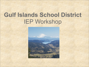 Workshop Introduction - SD64 Gulf Islands School District