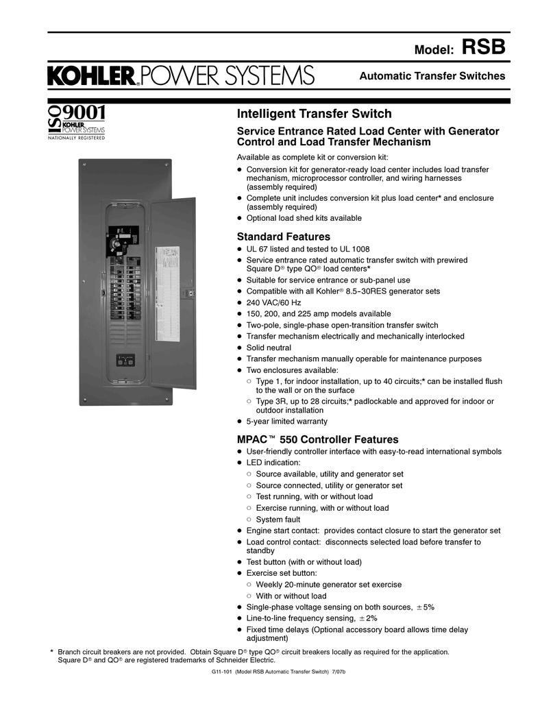 Spec Sheet Power Equipment Direct Switch Voltage Sensitive Circuit Buy