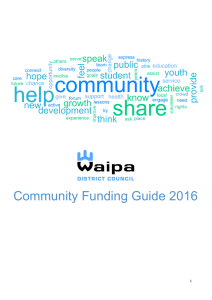 Community Funding Guide 2016