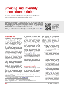 Smoking and infertility: a committee opinion