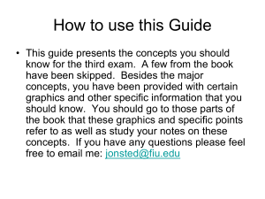 Study Guide For Exam 3!!