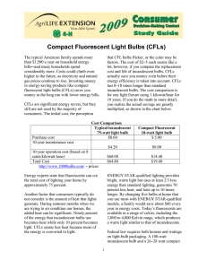 Compact Fluorescent Light Bulbs (CFLs)