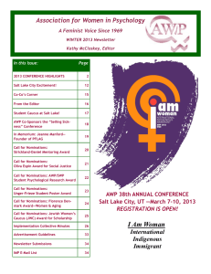 Winter - Association for Women in Psychology