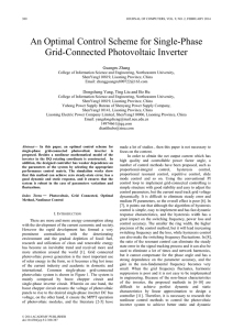 An Optimal Control Scheme for Single-Phase Grid