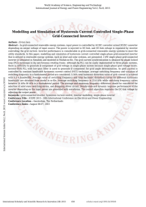 Modelling and Simulation of Hysteresis Current Controlled Single