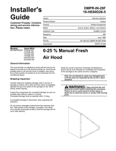 0 to 25 Percent Manual Fresh Air Hood