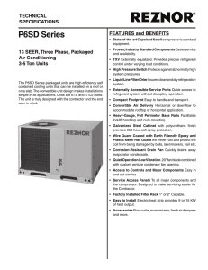 P6SD Series Air Conditioners Single Packaged Technical