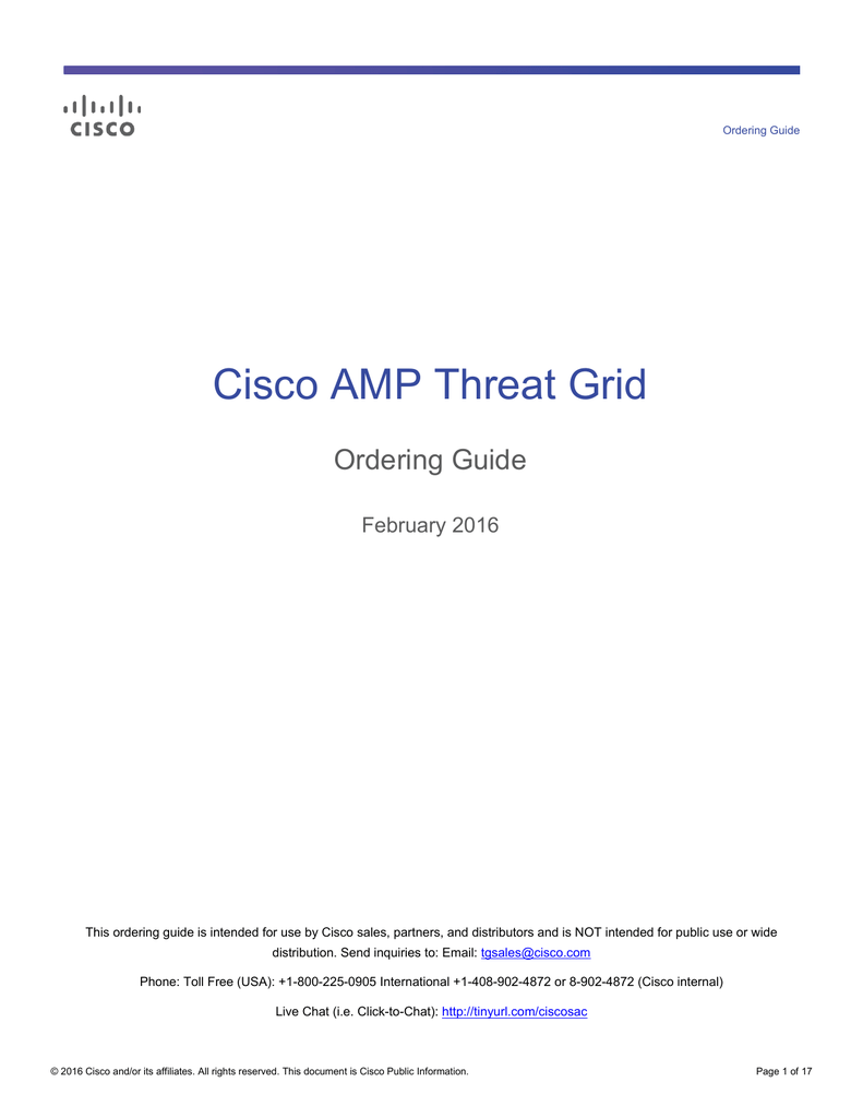 cisco threat grid ordering guide