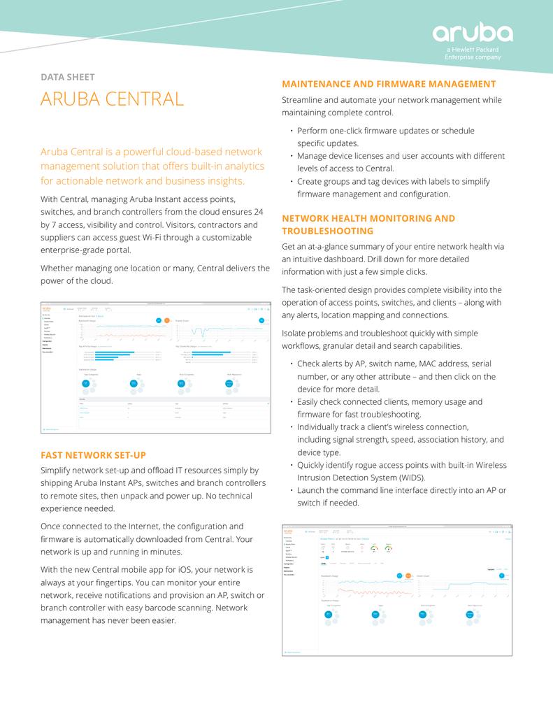 aruba central - Aruba Networks