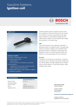 Ignition coil - Bosch Mobility Solutions