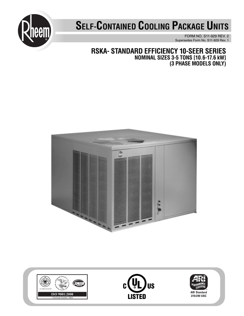 self-contained cooling package units