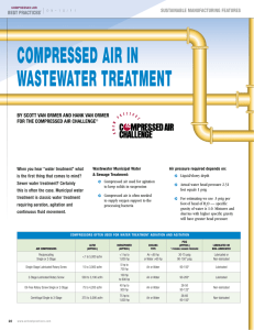 compressed air in wastewater treatment