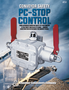 Product Catalog for Model PC - Conveyor Components Company