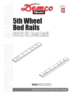 6012 - 5TH Wheel Set of SL Bedrails No Brackets