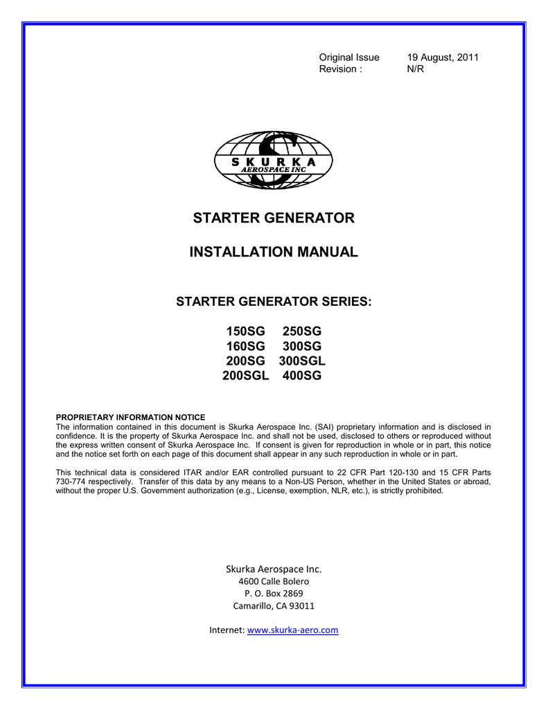 Schaltplan Starter Generator Manual Guide