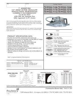 ... Peachtree Lighting. PFSS-7126 PFSS-7118 PFSS-7113 PFSS-7226 PFSS  sc 1 st  studylib.net & PRFTU-5x9-57 - Peachtree Lighting azcodes.com