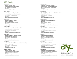 BSC Faculty - Bismarck State College