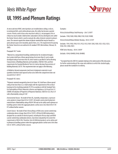 Veris White Paper UL 1995 and Plenum Ratings