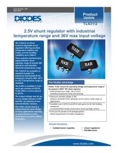 TL431/2 2.5V shunt regulator with industrial temperature range and