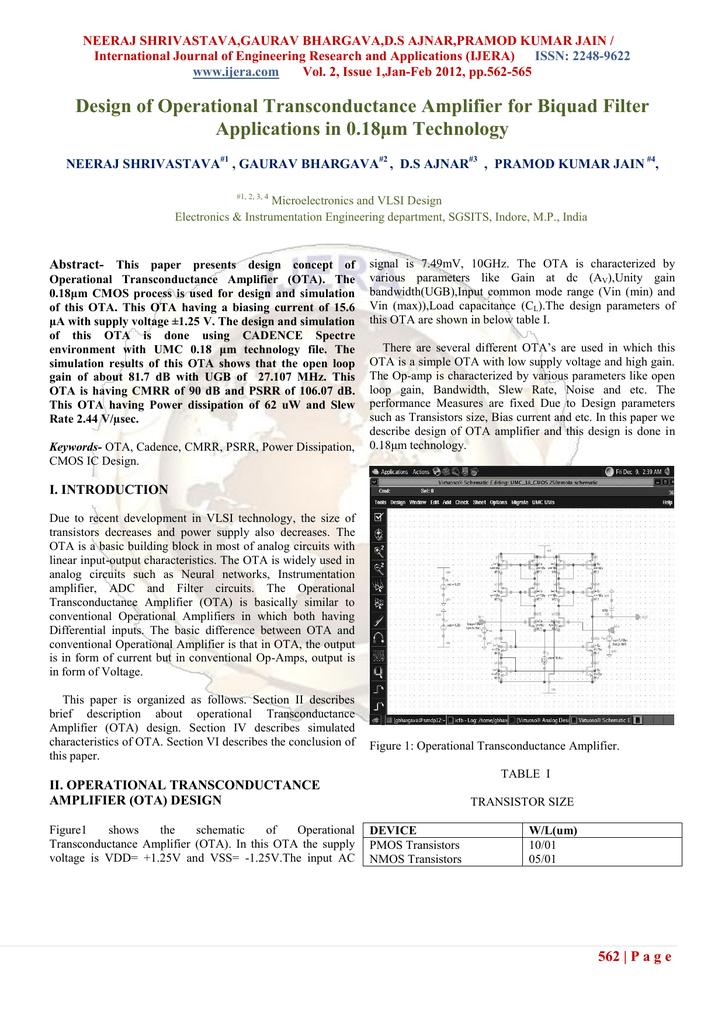 Operational Transconductance Amplifier