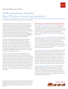 IASB introduces changes: New DB plan accounting standards