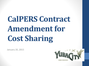 CalPERS Contract Amendment for Cost Sharing