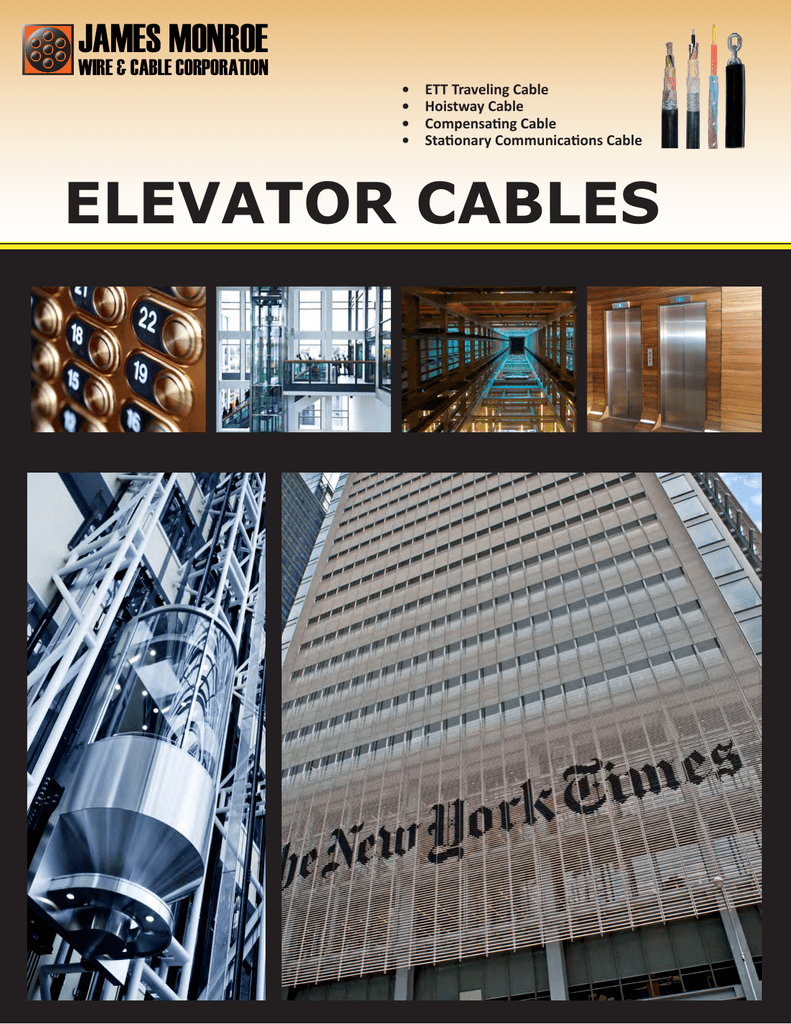elevator cables - James Monroe Wire and Cable Corporation