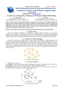 A Survey on Security Threats in Wireless Mesh Networks