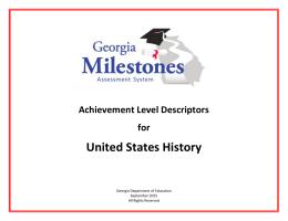 Georgia Milestones United States History EOC ALD
