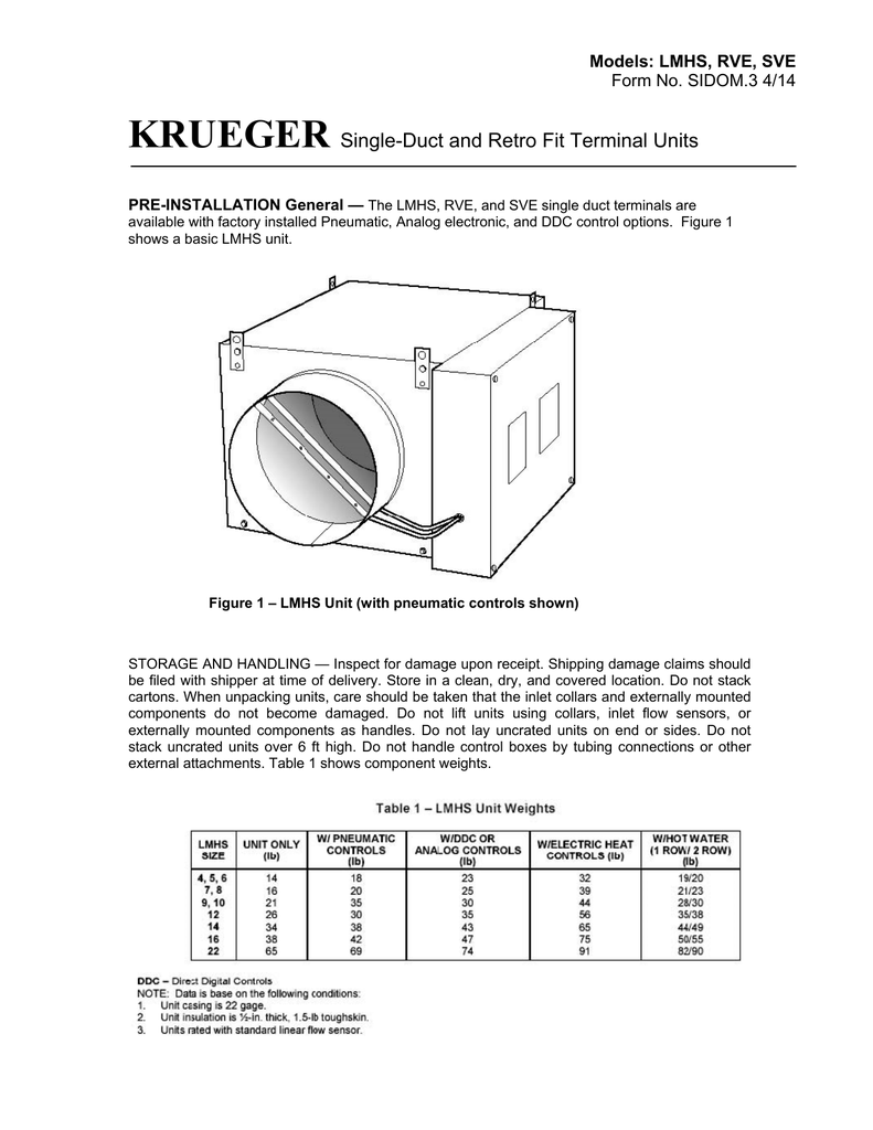 Ddc Control Wiring Diagram Trusted Refrigeration Krueger Single Duct And Retro Fit Terminal Units