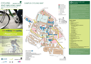 walking and cycling map