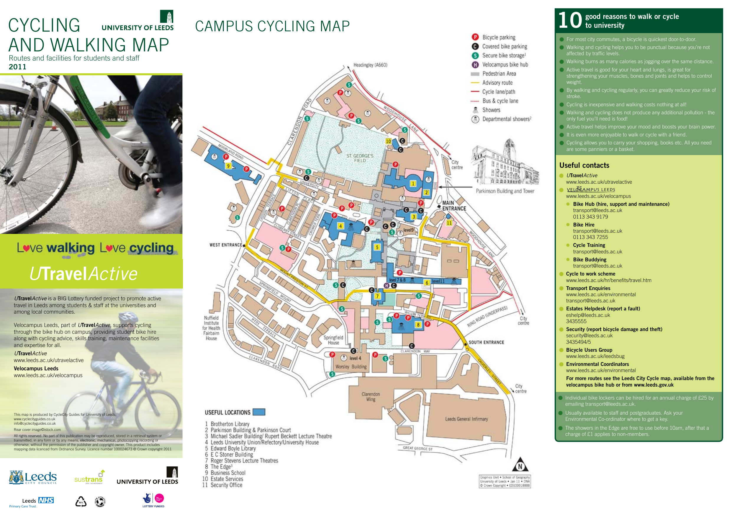 walking and cycling map on