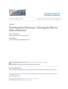Transformation Electronics: Tailoring the Effective Mass of Electrons