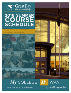 Summer 2016 Course Schedule - Great Bay Community College