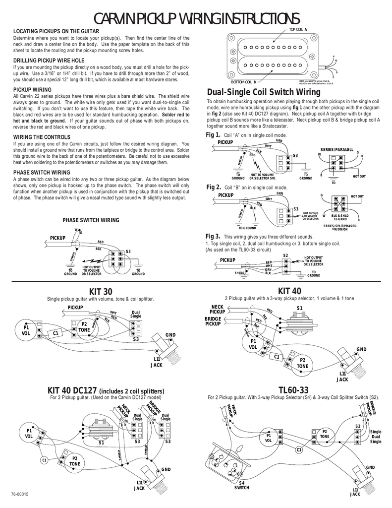 2 Single Coil B Pickup Wiring Diagram Electrical Diagrams 3 Instructions Humbucker