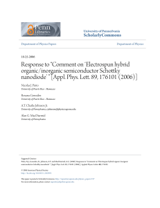 Appl. Phys. Lett. 89, 176101 - ScholarlyCommons
