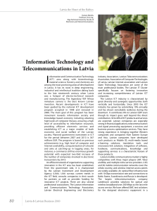 Information Technology and Telecommunications in Latvia