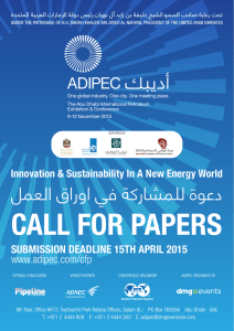 CFP brochure 29 march - The Society of Petroleum Engineers